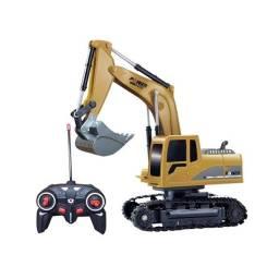 Escavadeira controle remoto 6 canais com bateria
