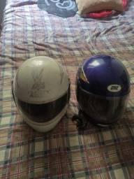 Título do anúncio: Vendo 2 capacete