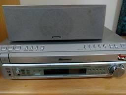 Home Theater Receiver Pionner XV-HTD7 600W RMS completo.