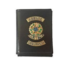 Carteira de couro para Agente Segurança