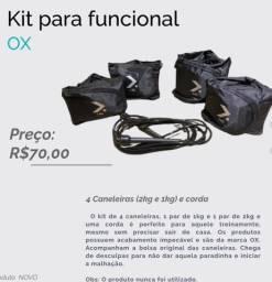 Kit caneleiras de peso + corda (funcional)