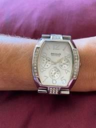 Relógio Seculus Prata com Zircônia