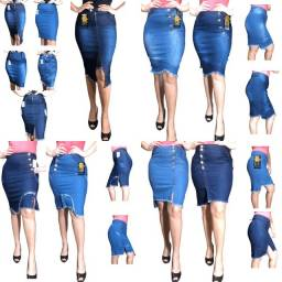 Saias jeans evangélica com lycra 5 peças