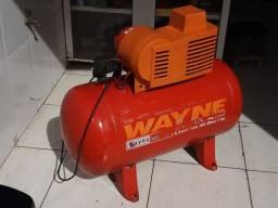 Compressor Wayne 5,2 pés 100 litros Monofásico