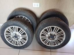 Roda aro 15 pneus novos