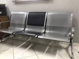 Cadeira com 3 lugares - recepção