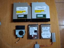 Acessórios Notebook (HD, Leitor CD/DVD e Memória RAM).