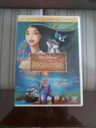 DVDs A pequena sereia, Pocahontas, A Espada era a Lei, Os 3 Mosqueteiros
