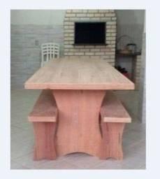 Mesa para churrasco de angelim