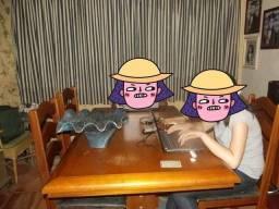 Título do anúncio: Mesa de jantar de madeira