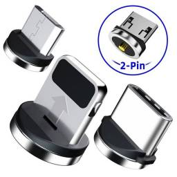 Plug Magnético Para Cabo Carregador IOS ou V8 ou TIPO-C.