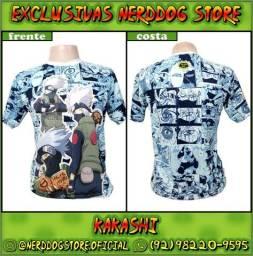 Título do anúncio: Camisa Kakashi Hatake (Naruto Shippuden) - NerdDog Store