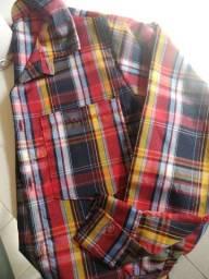 Camisa xadrez masculina infantil