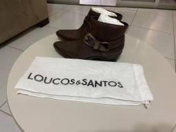 Bota em couro Loucos & Santos nova n.37