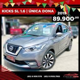 Kicks SL 1.6 - 2019 Garantia de Fábrica ( Paraíba Auto )