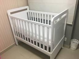 Berço Puppi Móbile Branco - Transformável em mini cama