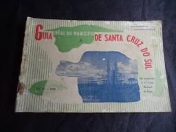 Antigo Guia Geral do Município de Santa Cruz do Sul da Década de 50