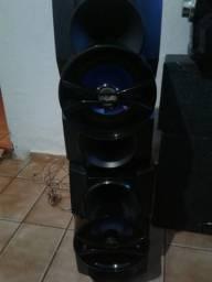 2 caixa de som sub woofer 300 rms