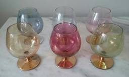 6 copos ovalados c/pés
