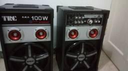 Vendo Caixa de Som Amplificada TRC 100W