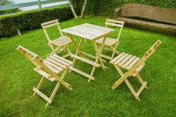 Kit de mesa dobravel e 4 cadeiras!!!!Baixou!!!