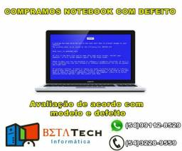 C0mpro Notebook com defeito