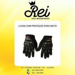 Luva pra moto e ciclista com proteção na palma e nas costas da mão no tamanho xl