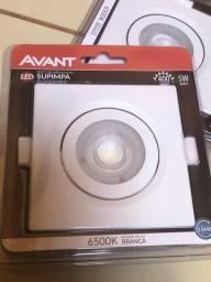 Spot led quadrado 5w luz branca