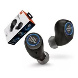 Fone De Ouvido Bluetooth Jbl In-ear Free X Ipx5 1 Ano Garantia preto e branco
