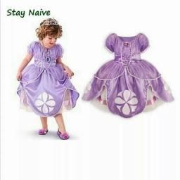 Vestido fantasia infantil princesa Sofia entrega gratuita em toda baixada