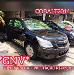 Cobalt 1.4 Completo + GNV * Sem Entrada