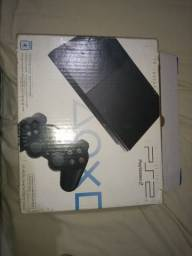 PS2 com memory card e vários jogos