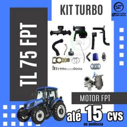 Kit turbo para trator Ford New Holland TL75 FPT (Silencioso)