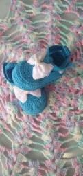 Promoção sapatinho crochê 15 reais