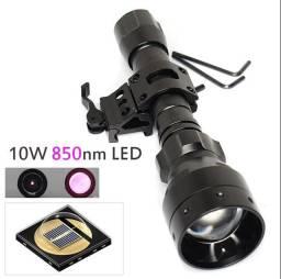 Lanterna infravermelho visão noturna  + suporte
