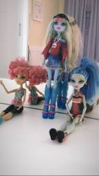 vendo bonecas monster high (Howleen Wolf, Ghoulia Yelps e Abbey Bominable)