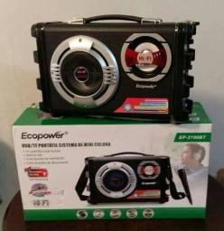 Caixa De Som Ecopower Ep-2220 Micro System Bluetooth Mp3