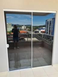 Porta de vidro fumê
