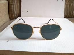 Óculos de sol Ray-Ban (ORIGINAL) Preto e Dourado Hexagonal