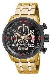 Relógio Masculino Invicta 17206 Aviator Dourado