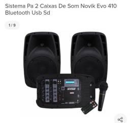 Caixa de som com mesa de controle Novik 410
