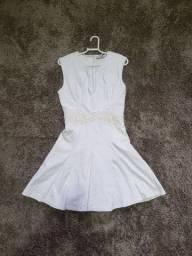 Vestido Branco Estilo Boneca Tam P/M