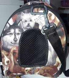 Bolsa mala transporte para pets até 5 kg.