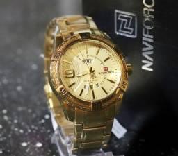 Relógio Luxo Naviforce (Original- Lançamento) + Brindes + Entrega grátis