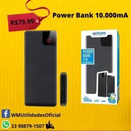 Carregador Portátil Para Celular Power Bank Bateria Externa 10.000 mAh