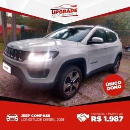 Jeep Compass Longitude Diesel 4x4  2018 Entr+Parc R$1,987