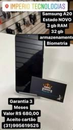 Vendo Samsung A20 estado NOVO  com garantia Somos LOJA  FÍSICA
