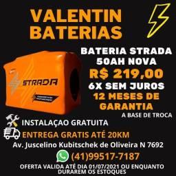 Bateria Strada 50ah- 6x Sem juros - Entrega Grátis - Instalação Gratuita