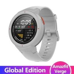 Smartwach Inteligente Xiaomi / Modelo Verge branco com GPS e memória interna Global- NOVO