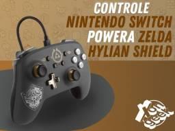 Controle Nintendo Switch PowerA - Edição Zelda Hylian Shield   Parcelamos em até 12 vezes